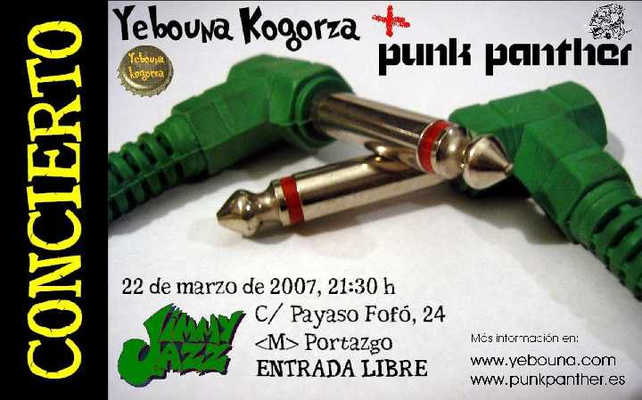 Yebouna Kogorza y Punk Panther en el Jimmy Jazz
