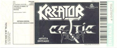 Kreator y Celtic Frost: 22 de Marzo de 2007