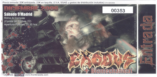 Biomechanical, Exodus (09/11/06, Ritmo y Compás)