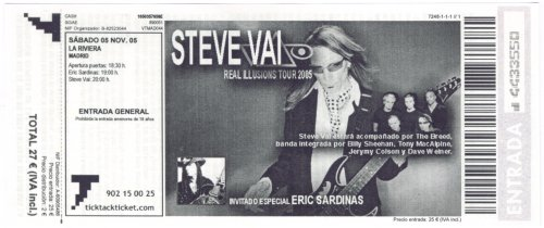 Steve Vai - Real Illusions Tour 2005