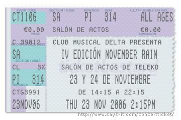 November Rain - 23 de Noviembre de 2006