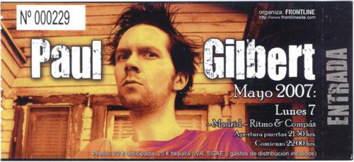 Paul Gilbert, 7 de Mayo de 2007, Ritmo & Compás