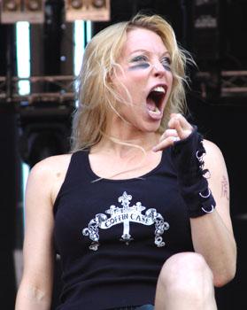 Angela Gossow (Metalway 2006)