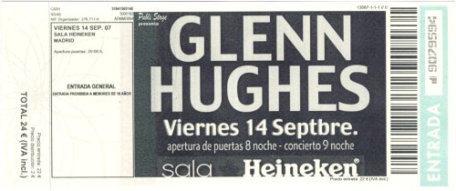 Glenn Hughes @ La Riviera, Madrid, 14/09/2007