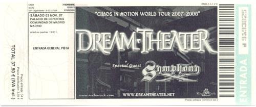 Symphony X y Dream Theater @ Palacio de los Deportes, Madrid,  03/11/2007