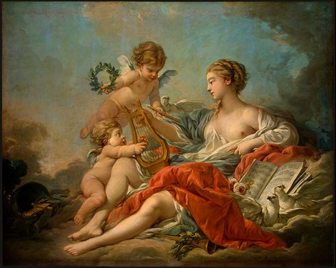 François Boucher ?Allegory of Music? (1764)