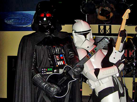 Darth plays Guitar Hero