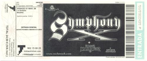 Symphony X, 1 de marzo de 2008