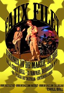 Faux Filet en concierto: Viernes 14 Marzo, 22:30h. Sala Chill Bill.