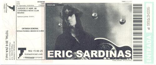 Eric Sardinas, 17 de abril de 2008 @ Copérnico