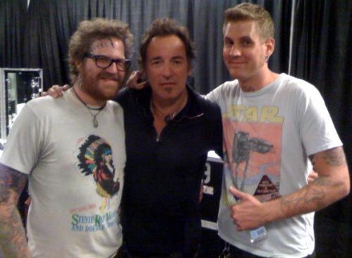 Brann Dailor y Brent Hinds de Mastodon con Bruce Springsteen