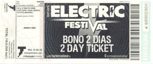 Electric Weekend, 30 y 31 de mayo de 2008