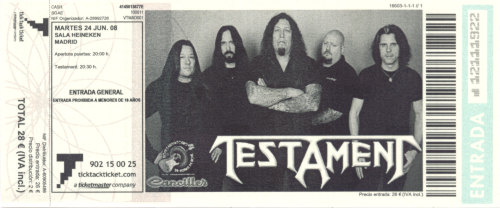Testament, 24 de Junio de 2008