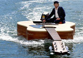 Josh Pyke's Guitar Boat