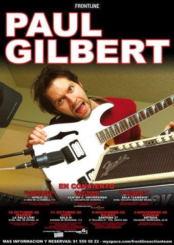 Paul Gilbert en España (2008)