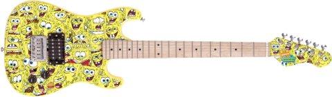 SpongeBob Squarepants 7/8 Size Electric Guitar