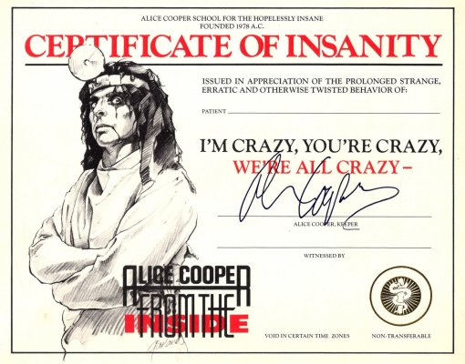 Alice Cooper - Certificate of Insanity