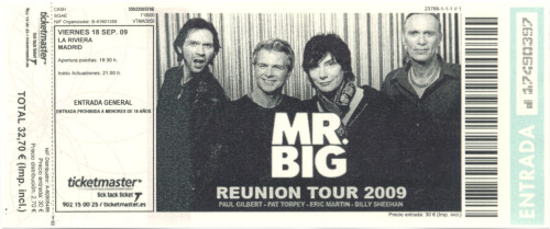 Mr. Big, 18 de septiembre 2009