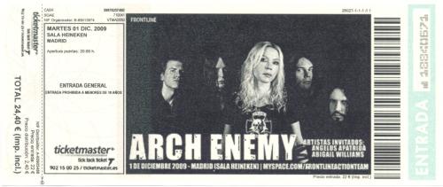 Arch Enemy, 1 de diciembre de 2009