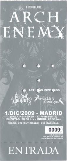 Arch Enemy, 1 de diciembre de 2009 (entrada de edición limitada)