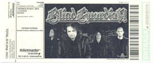Blind Guardian, 5 de noviembre de 2010