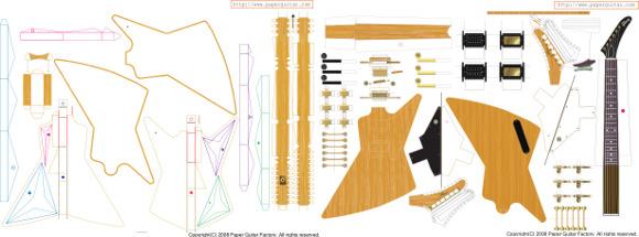 PaperGuitar.com Gibson Explorer