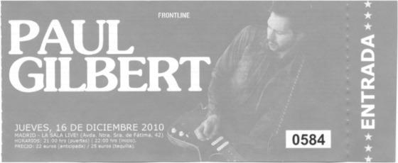 Paul Gilbert, 16 de diciembre de 2010