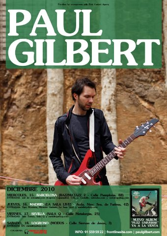 Paul Gilbert Tour 2010