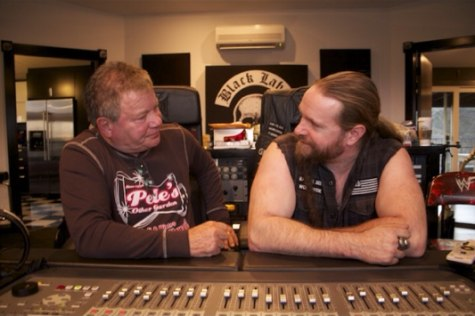 William Shatner and Zakk Wylde recording 'Seeking Major Tom'