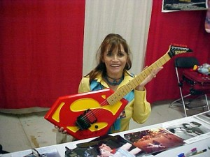 Margot Kidder with Superman Guitar