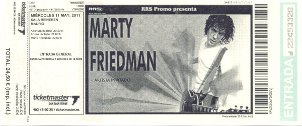 Marty Friedman, 11 de mayo de 2011