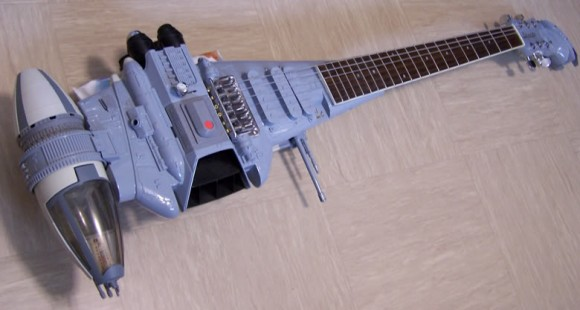 "Star Wars Return of the Jedi ""B"" Wing Fighter guitar"
