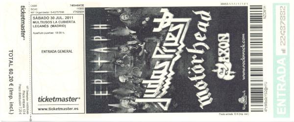 Judas Priest, Motörhead y Saxon. 30 de julio de 2011