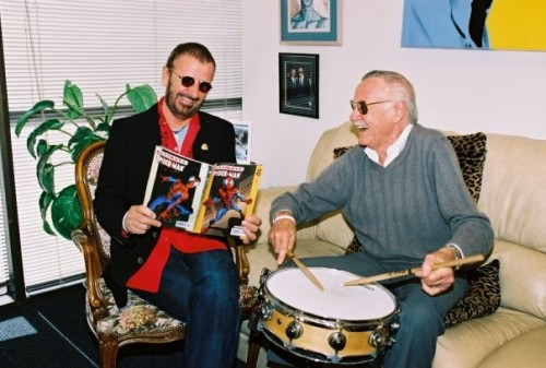 Ringo Starr and Stan Lee