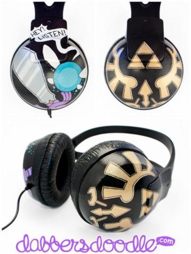 Dabblers Doodle Headphones: Zelda