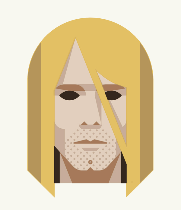 27 Club Art Print: Kurt Cobain