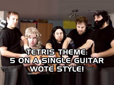 Tetris Theme - 5 on a single guitar - WOTE style!