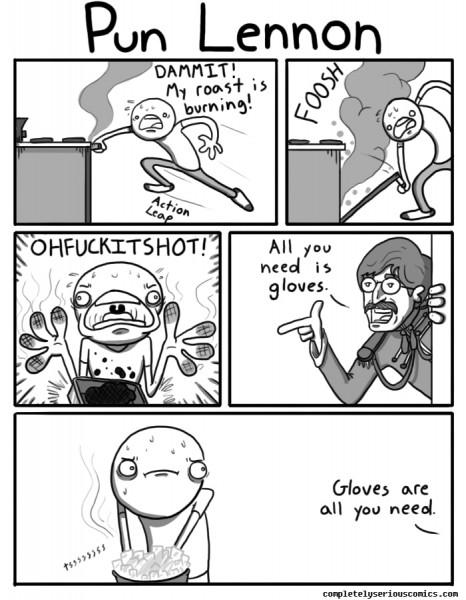 Completely Serious Comics - Pun Lennon