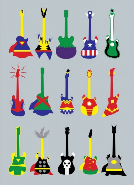 Guitar Superheroes