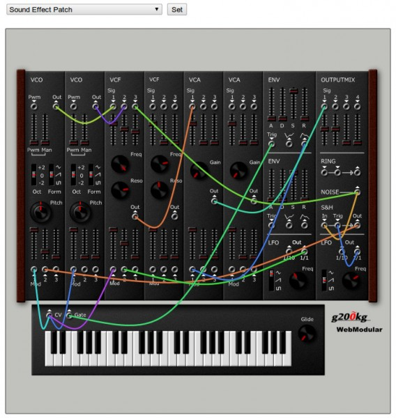 WebModular (HTML5+Javascript Modular Synthesizer)